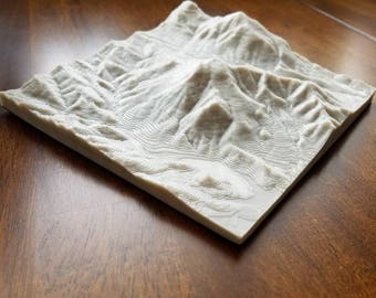 Monserate mountain topographical map, Fallbrook CA