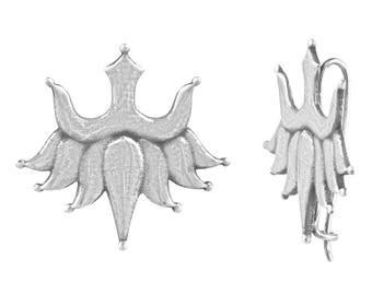 SV's Handmade Pure Silver Inverted Lotus Earrings