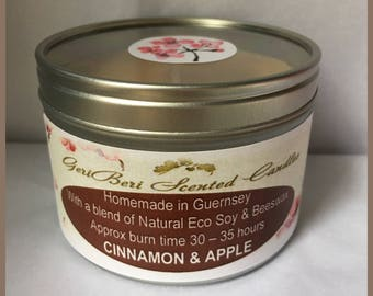 Cinnamon & Apple Large Soy Candle Tin