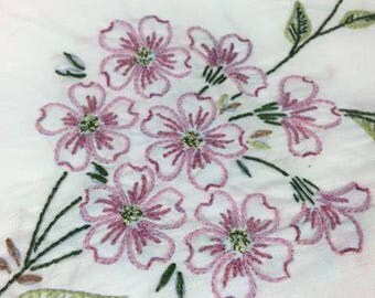 Hand embroidered set of pillow cases