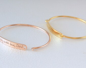 Actual Handwriting Bracelet - Personalized Signature Jewelry - Meaningful Gifts for Her