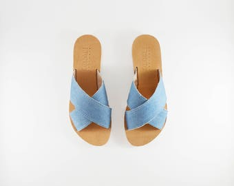 Denim - Handcrafted Leather Sandals