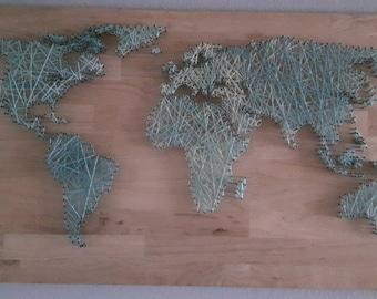 String Art World Map
