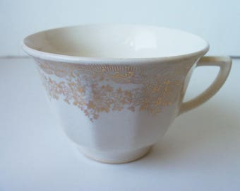 Antique  porcelain gold plated  cup  (#EV81)