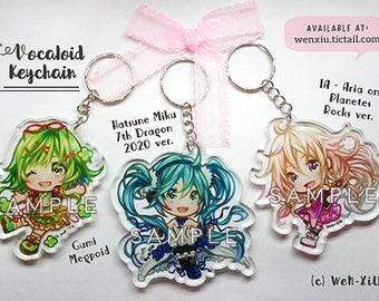 Vocaloid Charm Acrylic Keychain - Hatsune Miku, IA Aria on Planetes, Gumi Megpoid