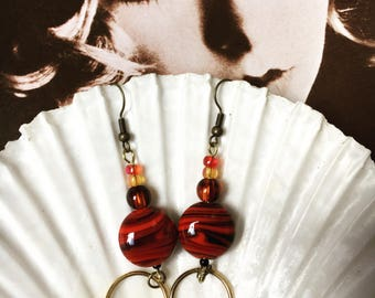 Biba inspired dangle earrings.