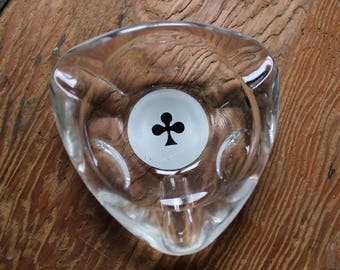 Retro ashtray from the 80's French bistro playing cards clover