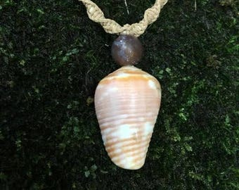 Agate Cone Shell Necklace