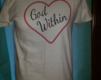 "White  - Psalm 46:5  ""God Within"" Tee"