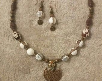 Unique Bohemian Necklace and Earrings