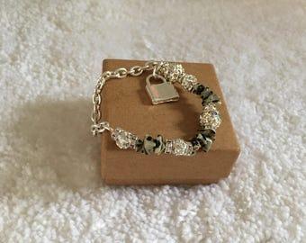 Dalmatian jasper stone beads.