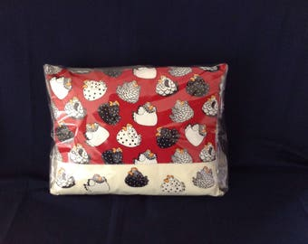 "Chickens cushion 17""x13"""