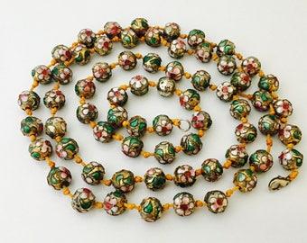 Chinese Vintage Cloisonné Enamel Beaded Necklace