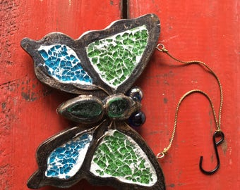 Vintage Metal Butterfly, Home Décor, Metal Art, Wall Hanging