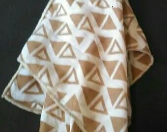 M  Tan Triangle Scarf
