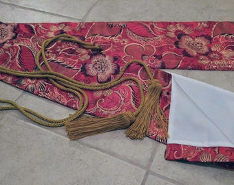 Iaito Red Brocade Floral Carry Bag