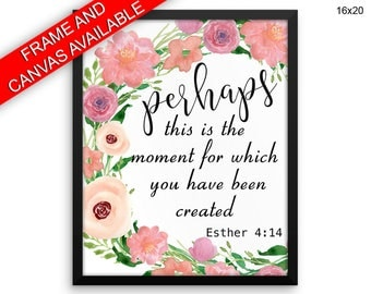 Esther Canvas Art Esther Printed Esther Scripture Art Esther Scripture Print Esther Framed Art Esther printable bible wall art quote