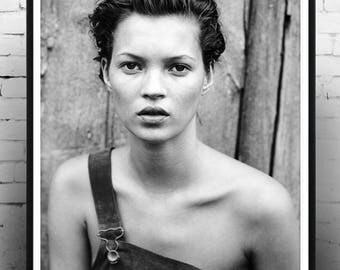 kate moss, home decor, wall art, photography, fashion icon, gift, print