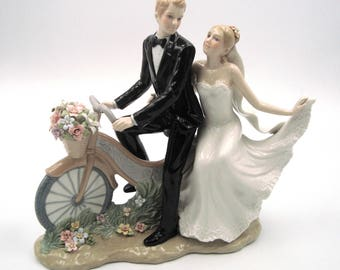 Wedding Couple Figurine - Riding the Bike
