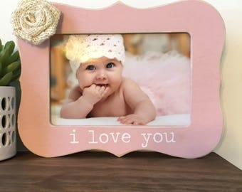 I love you Picture Frame Gift // New Baby Gift // Grandparent Gift // Mother's Day Gift // Father's Day Gift