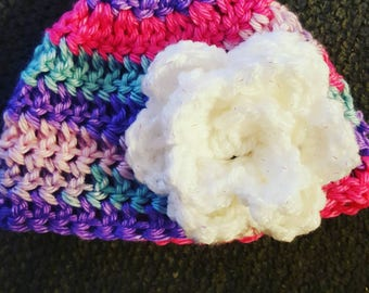 Hand made flower hat