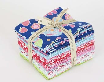 Riley Blake Designs, Fat Quarter Bundle - Flutterberry by Melly & Me