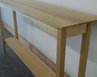 Hall Table, Sofa Table, Shaker Table, Hand Crafted ready to assemble and finish Kit Furniture.