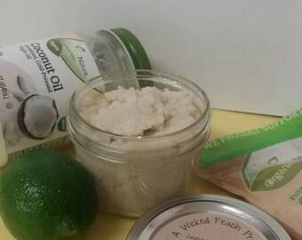 Organic coconut oil & Lime Sugar Scrub