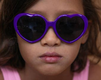Purple Sunglasses, Heart Shaped Sunglasses, Girls Sunglasses, Kids Sunglasses, Child Sunglasses, Kids Accessories