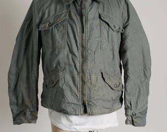 Vintage 1970's Vietnam war Intermediate Cold Weather CWU-7/P us navy jacket Medium