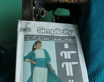 Simplicity 8726 One size Duster coat, Shirt, Skirt,  and Pants