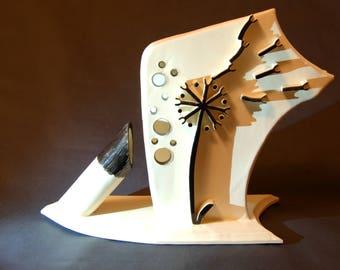 Dandelion, Ceramic Sculpture, Modern ceramic,  Ceramic Figures, clay, ceramic, glaze, abstract art