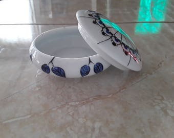 Porcelain hand painted jewelry box