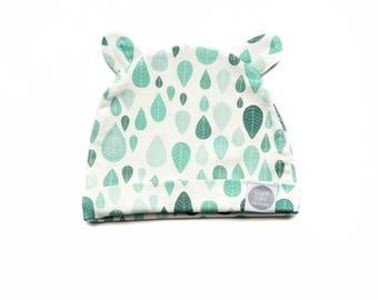 Mint Leaves ORGANIC Baby Hat