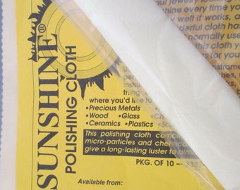 SUNSHINE POLISHING CLOTH>>Jewelry polishing and more>Truly works wonders>Free shipping when purchased with a piece of jewelry from our shop!
