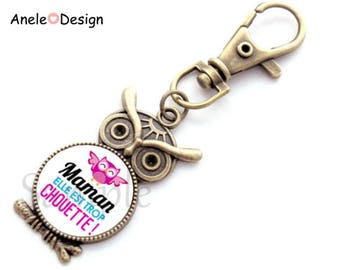 Key ring gift for MOM - pink purple blue