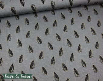 Modal Krysanteemi Combi - grey gold - leaves - gold print sheets