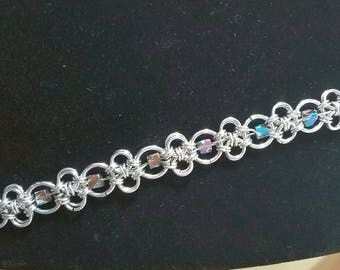 Chainmaille Stainless Steel with Beads Bracelet