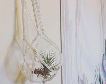 Macrame Glass Planter