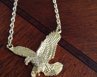 Gold-plated Phoenix pendant