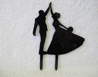 Wedding Cake Topper,Plexiglas 3 mm,Black color,black topper