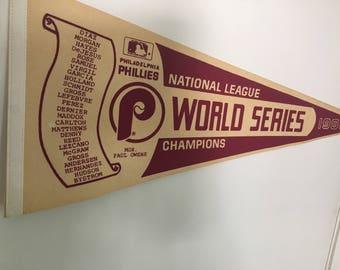 Philadelphia Phillies World Series Penant 1983