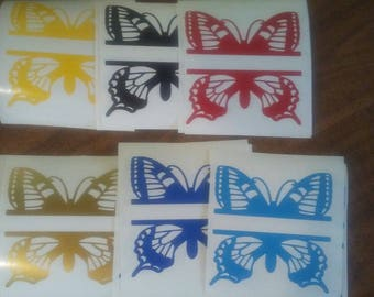 Personalize Butterfly Decals: Any Size, Any Color, Decal Or A Ceramic Tile Decoration