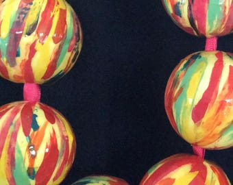 Summery, multicolored necklace