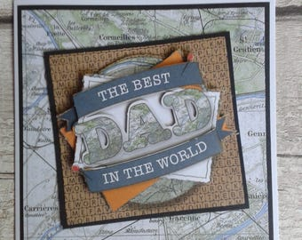Fathers day card, handmade card, greetings card, male birthday card, dads day, uk seller, keepers cottage store, handmade, fathers day