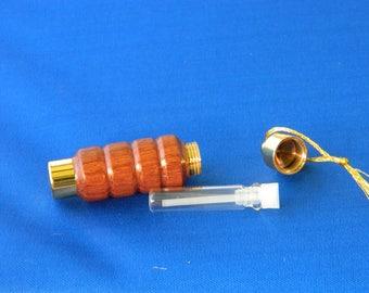 hardwood cologne holder