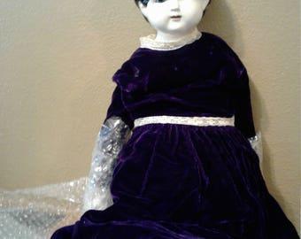 Vintage Victorian Porcelain Doll