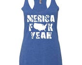 America Fuck Yeah July 4th Women's Tank top