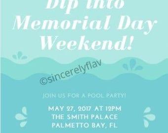 Summer Pool Party E-Invite (DIGITAL)