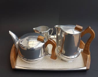 Picquotware / Picquot Ware 1950s Tea Coffee Set